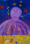 'Octopus giant', Diana Komogortseva, 9 years, (teacher Zh.Kibireva), Chita