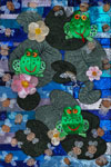 'Three cheerful frogs', Anna Masalova, 15 years, (teacher. S. S. Polishchuk), Novosergiyevkа