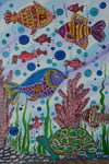 'The underwater fairy tale', Polina Prudnikova, 9 years, (teacher N.Yu.Sumtsova), Rubtsovsk