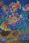 'Fantastic small fishes', Anastasia Savchenko, 14 years, (teacher A. N. Yermilova), Molodogvardeysk